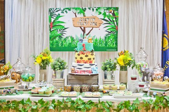 Quentin's Safari Adventure First Birthday Party