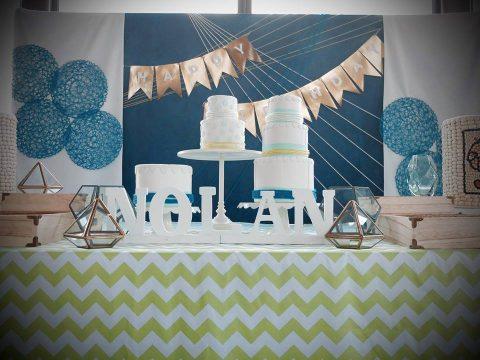 Nolan's Geometric Themed First Birthday Party