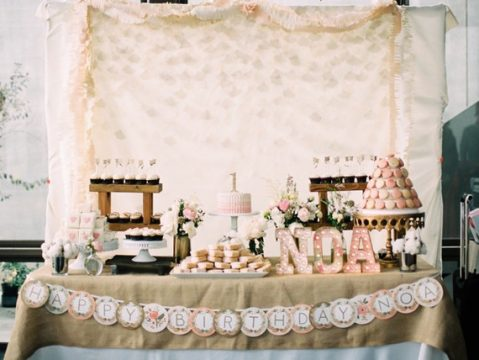 Noa's Pink, Feminine First Birthday Party