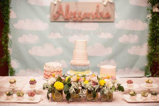 Alessandra's Pastel Rainbow Garden Theme First Birthday Party