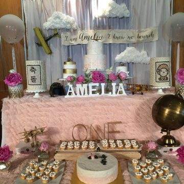 Amelia's Airplane Themed First Birthday Party