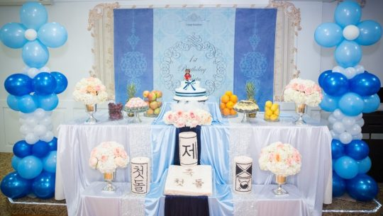 Jae's Modern Blue Themed First Birthday Party