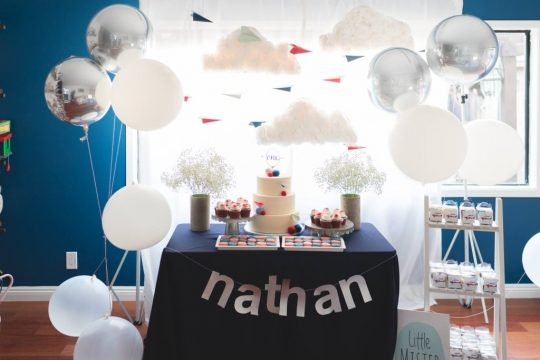 Nathan's Airplane Themed First Birthday